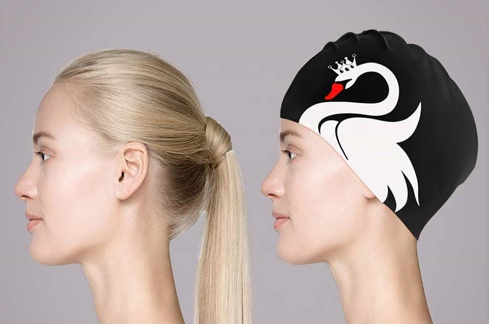 bonnet de bain cheveux long